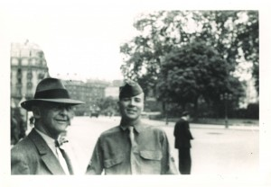 Symington with his grandfather, James W. Wadsworth, Jr., in Paris during WW II