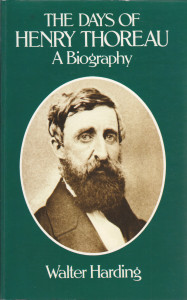Walter Harding wrote the definitive biography of Thoreau