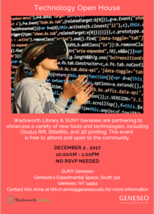 Technology Open House at Milne Library December 2 2017