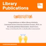 Library Publications - Jonathan Grunert