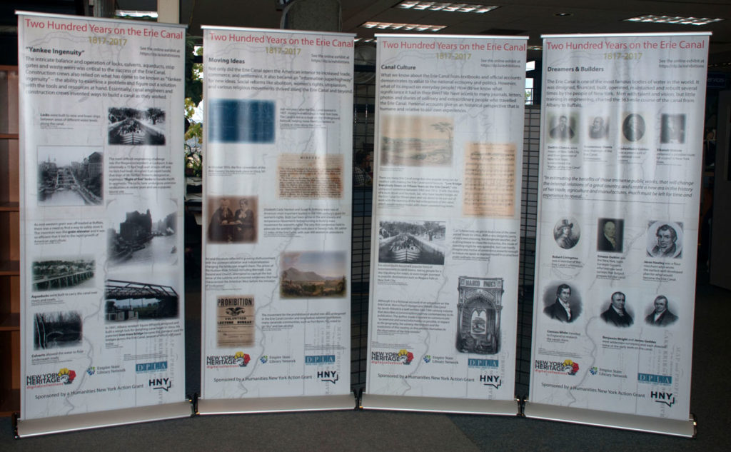 Milne LIbrary display for 200th anniversary of the Erie Canal