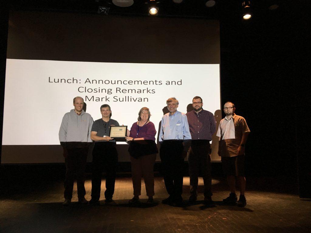 Timothy Jackson, Mark Sullivan, Sue Kaler, John Brunswick, Shannon Pritting, and Michael Mulligan at the IDS Project Conference 2018, Utica College.