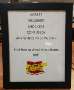 Check out a banned book today at Milne Library!