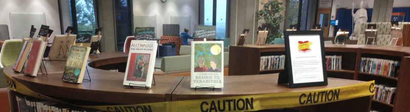 Milne Banned Book Display