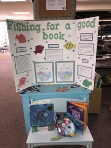 Imaginarium at Milne Library Display - Fishing for a good book