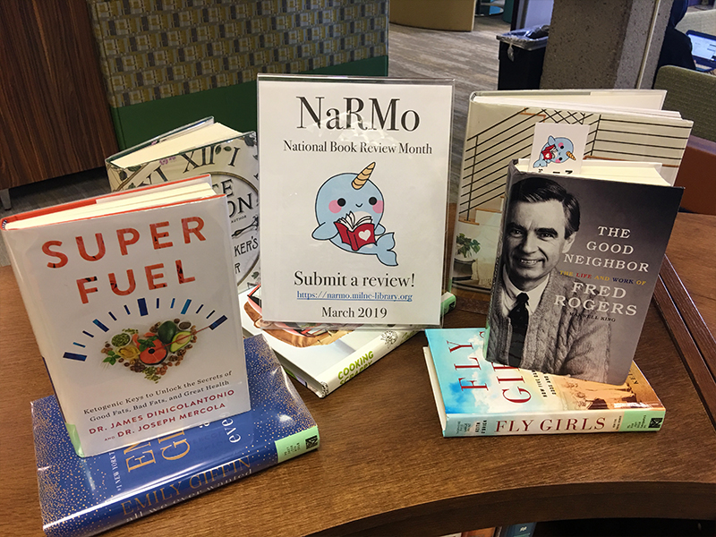 National Book Review Month! Get Reviewing! – Milne Library
