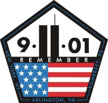 9-11 Logo pentagon world trade center us flag