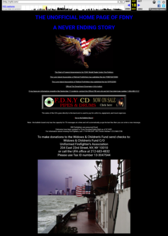 The Unofficial Home page of FDNY Sept 18 2001 via archive.org