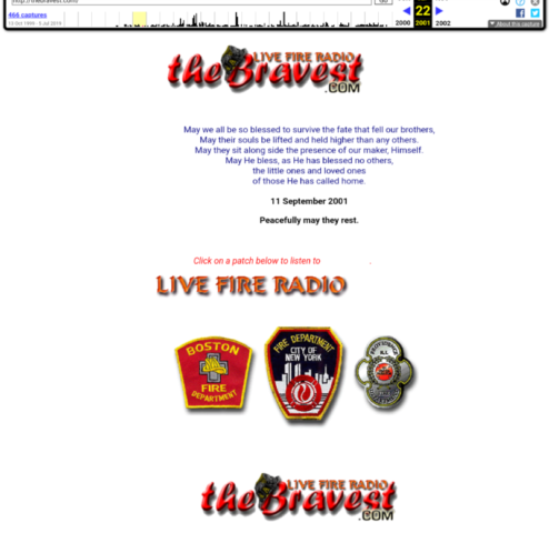 The Bravest.com September 2001 via archive.org