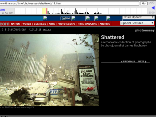 "WTC ""Shattered"" photo essay by James Nachtwey-time.com via archive.org"
