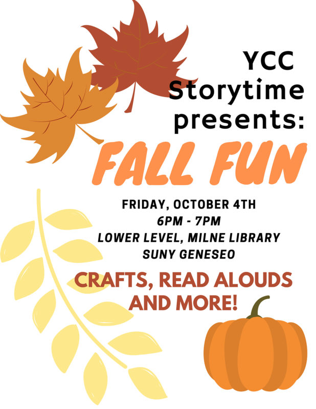 Fall Storytime event for children at Milne Library