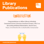Library Publications - Jonathan Grunert