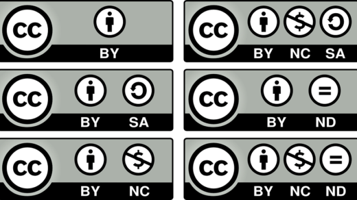Creative Commons Six License types