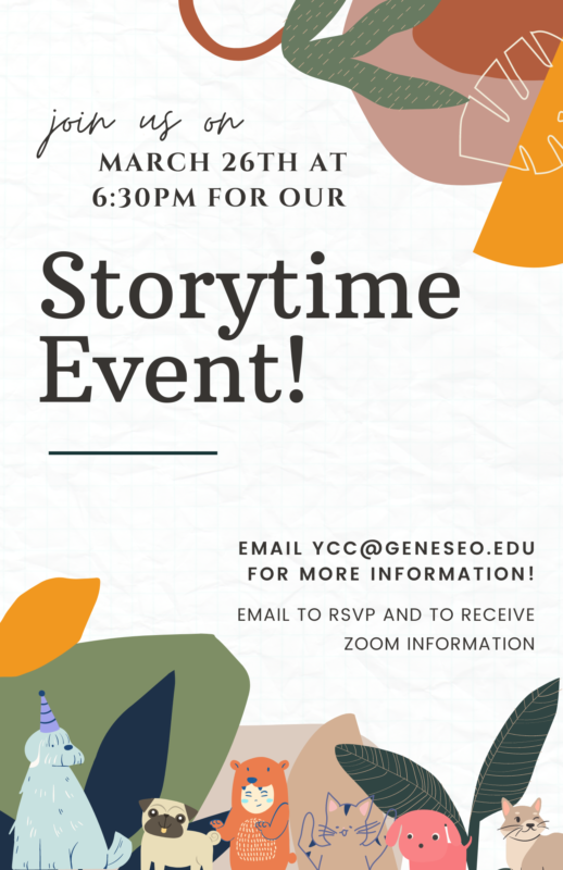 StoryTime Friday March 26 at 6:30pm